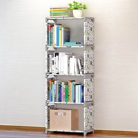 Wholesale Floor Supplies - Five Layers Waterproof Storage Bookshelf Holders Racks Home Storage Racks Office Organizer Stuff Accessories Supplies VT0690