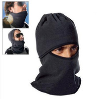 Wholesale Cs Fitting - Windproof counter terrorism caps thickened caught wearing earmuffs CS Hat Balaclava face mask scarf winter wind and flying tiger Hat a709