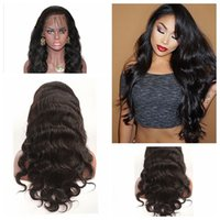 Wholesale Dark Blonde Wavy Wig - Fast Shipping Natural Black Long Wavy Wigs with Baby Hair Heat Resistant Gluelese Synthetic Lace Front Wigs for Black Women