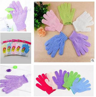 Wholesale Bath Shower Glove For Peeling Exfoliating Mitt Glove For Bath Shower Scrub Gloves Sponge Bath Shower Nylon DHL