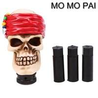 HOT Universal Skull Head Auto Auto Gear Shift Knob Stick Shifter Alavanca adequada para VW NISSAN bmw audi