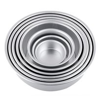 Wholesale Fondant cake decorating tools quot Aluminum Alloy Non stick Round Cake Baking Mould Pan Tin Mold Bakeware cozinha