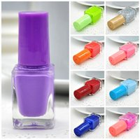 Wholesale Sweet Colors Nails - Wholesale- Nail Polish Nail Polish Set Gel Nail Polish 1Pcs 6ML 12 Colors Fashion Women Sweet Girl