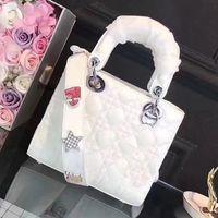 Wholesale Mini Bag Shoulder Strap - lady vintage bag luxury brand women leather handbags Diamond shoulder strap bag famous designer lattice quilted crossbody bags fashion