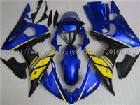 Wholesale Silver R6 Fairings - vBlue, black, yellow, silver,(Injection Mold)(Please state the year)YZF R6 03 04 05 Fairing YZF R6 2003 2004 2005 Fairings