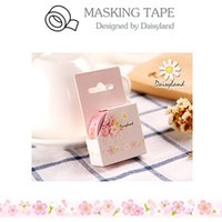Wholesale Hand Painted Ideas - Wholesale- 2016 Cartoon Cherry Buds Adhesive Tape Hand-Painted Decorative Paper Tape DIY Album PDA Ideas Masking Tape School Supplies