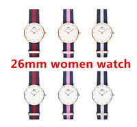 Wholesale Leather Womens Watches Brown - New womens Wrist watches 26 Women Watches Luxury Brand Famous Quartz Watch Female Clock Relogio Montre Femme