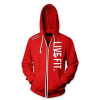 hoodies equipados coreano venda por atacado-Nova Moda Outono Homens Hoodies de Lã Homens Jaqueta Treino de Alta Qualidade Outono Inverno Homens Coreano Slim Fit Homens Camisola