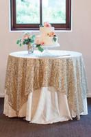 tabela de lantejoulas de ouro venda por atacado-Bling lantejoulas pano de mesa redonda tamanho personalizado festa à noite decorações de casamento de prata de ouro Champagne Glitter tecido lantejoulas toalha de mesa