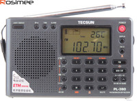 Wholesale Dsp Speakers - Wholesale-TECSUN PL-380 DSP FM Am stereo. MW. SW. LW. World Band PLL Radio Receiver, LCD Display, Small Size Radio