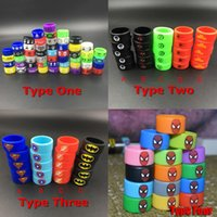 Wholesale Wholesale Hulk - E-cigs Vape Band Silicone Rings Colorful Decoration Protection Rubber Rings Deadpool Flash Hulk Batman Fit E Cigarette RDA Atomizers