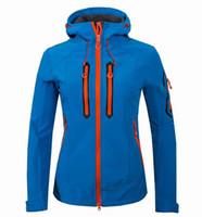 Wholesale Ski Jacket Woman - Wholesale-2016 Acti Brand GTX Active Shell Outdoor Waterproof Thermal Jacket women For Camping Fishing Skiing Rain Jackets Free Shipping