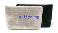 Wholesale Small Shiny Bag - Lady Shiny Cosmetic Bag Hand Bag Small Portable Large Capacity Mobile Phone Clutch Package Cosmetics