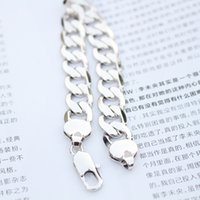 1pcs Heavy 24K White Gold preenchido Solid Curb Link Chain Bracelet Jóias 8.46inches 12mm 35G