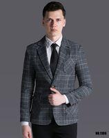 Wholesale Men S Suits Plaid - New Arrival Retro Plaid Suit Men 's Tops 2017 Spring and Autumn Casual Blazer England Fashion Long Sleeve Jacket Outwear !