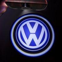 ingrosso luci jetta-LED Door Logo Light Proiettore per VW Passat B6 b7 Golf5 6 7 Jetta MK5 MK6 CC Tiguan Scirocco Con VW R R-line