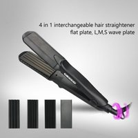 Wholesale Ceramic Ptc Heater - Interchangeable Heating Plate Hair Flat Iron 1.5 inch Four Gears Temperature Adjustable Tourmaline Ceramic Hair Straightener with PTC Heater