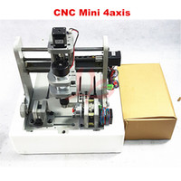 Wholesale Plastic For Engraving - 4axis Engraving machine for DIY, Mini CNC Drilling and Milling Machine for wood, plastic, wax, softsteel and etc