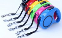 Wholesale Wholesale Retractable Leashes - Retractable Leash Lead Strap Dog Leash Rope Multicolor Automatic Adjustable Chain 3 meter 5 meter free shipping