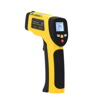 digital laser tool UK - Freeshipping Precision Digital Infrared Thermometer Double Laser Non-contact IR Pyrometer Temperature Tester Diagnostic-tool 50~1050 Degree