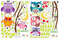 Wholesale Owls Decal Stickers - New DLX0519C DLX0380 owl a children's bedroom background wall decoration stickers removable wall stickers