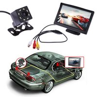 Wholesale Vision View - 5 Inch TFT LCD Rear View Display Monitor + Waterproof Night Vision Reversing Backup Rear View Camera High Quality Car Monitors