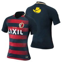 Wholesale Men S Red Stripe Shirt - New Style 2017 Kashima Antlers football shirts Red stripes soccer jersey