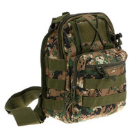 Wholesale 600D Molle Tactical Utility Ways Shoulder Sling Pouch Backpack Chest Bag for Hunting Climbing Bags colors