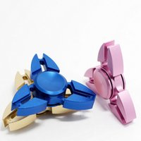 Wholesale Fidget Plush - Best Fidget Spinner Triangle Hand Spinners Crab Feet Aluminum Alloy CNC EDC Finger Tip Decompression Rollover Plush Toys DHL FREE