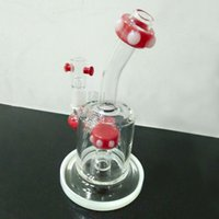 New Come Red Bong Boom Boom Boom Boom Bongs Recycler Perc Oil Rig Con 14.4mm Tubo Acqua Quarzo Quarzo Nail Glass