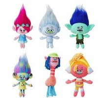 Wholesale Inflatable Figures - 2016 New Movie Trolls Plush Toy 23-36cm Poppy Branch Dreamworks Soft Stuffed Dolls Cute Cartoon Figures For Kids Christmas Gifts