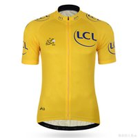 Wholesale Tour France Tops - Hot! Tour DE France champion yellow Cycling jersey Ropa Ciclismo short sleeves cycling jersey Mountain Racing Bike Cycling Clothing