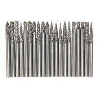 Wholesale Engraving Burrs - Best Price 20Pcs 1 8 Inch 3mm Tungsten Carbide cutter Rotary Burr Set CNC Engraving Bit CED