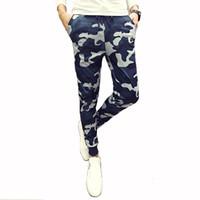 Wholesale Mens Casual Camo Pants - Wholesale- Mens Joggers Pants New Hip Hop2016 Men Pants Camouflage Pencil Pants Skinny Sweatpants Trousers Man Camo Joggers