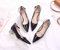Wholesale Low Heel Dress Shoes Wedding - New Design luxury simple fashion high quality Women's skull Low-Heeled Dress shoes