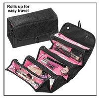Wholesale Large Jewelry Roll Bag - cosmetic bag fashion large capacity women Foldable makeup bag hanging toiletries travel kit roll jewelry organizer