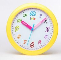 Wholesale Art Wall Round Clock - Wholesale-Children quiet round wall clock, the bedroom cartoon creative clock, lovely art quartz clock.