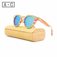 Wholesale Handmade Wooden Frame - Wholesale-2016 New fashion Products Men Women Bamboo Sunglasses Polarized Lens Wooden Frame Handmade Free Shipping