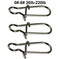 Größe Angeln Schwenkt Kaufen -100pcs Duo Lock Snaps Größe 0 # -8 # Schwarz Nizza Snap Swivel Slid Ringe Edelstahl USA Fishing Tackle Kit - Test: 26LB-220LB