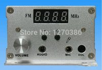 Wholesale Radio 7w - Wholesale-Free Shipping!!! 7w FM PLL LCD stereo transmitter Radio Station