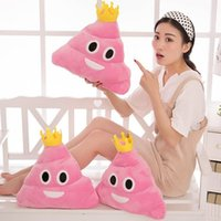 Amusant Emoji Emoticon Coussin Coeur Oeil Poo Shape Pillow Doll Toy Throw Cushion Perfect Gift