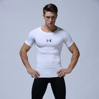 Wholesale Fitness Pools - Kobe Bryant pool pro Quick Dry Compression Shirt Training t shirt Summer Fitness Clothing Solid Color Bodybuilding Gym Crossfit