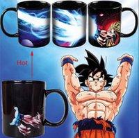 Wholesale Eco Z - Dragon Ball Z Color Changing Mugs Vegeta Heat-sensitive Reactive Changing Coffee Mug Ceramic Cups Saiyan Coffee Tea Cups OOA2657