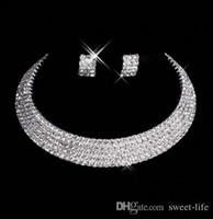 ingrosso la collana stabilisce i monili del diamante per la cerimonia nuziale-15035 Designer Sexy Men-Made Orecchini Orecchini Collana Prom Abiti da sposa formale Set Accessori da sposa Spedizione gratuita Disponibile