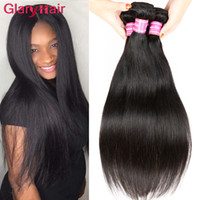 Wholesale best straight weave hair resale online - Brazilian human Hair extensions Malaysian Peruvian Mongolian Cambodian Top Unprocessed Straight Hair Bundles Dyeable Best Quality Hair Weave