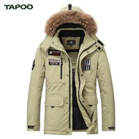 Wholesale Handsome Man Coat - Wholesale- Tapoo Mens Down Coats Polyester Winter Jackets Thick 80% White Duck Down Casual Outerwear Windproof Handsome Plus Size M-3XL