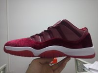 Wholesale Top Cut Leather - 2016 full grainer leather Hight top 11s Mens basketball shoes Velvet Heiress Low top Women outdoor sports shoes atheletic Retros 11 Retro XI