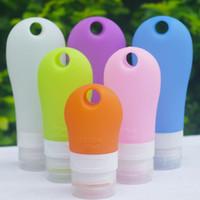 ingrosso shampoo bottiglie per doccia-Wash Bottle Set Points Shampoo Doccia Gel a forma di ventaglio di gel di silice Bottiglie vuote Essenziali da viaggio Vendita calda 4 8zy3 R