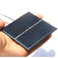 carregadores de laptop com painel solar venda por atacado-BUHESHUI 0.8 W 5 V Mini Painel Solar Policristalino do Módulo do Painel Solar + Cabo DIY Solar Charger System Para 3.7 V Kits de Estudo Battety 80 * 80 MM