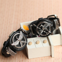 Wholesale Hunger Games Bracelet Ring - Punk Style Hunger Game Mockingjay Bracelet Men High Quality Leather Bracelet Locket Wristband Mens Jewelry bangle bracelets